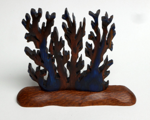 Coral carving in Bluebell Frogwood