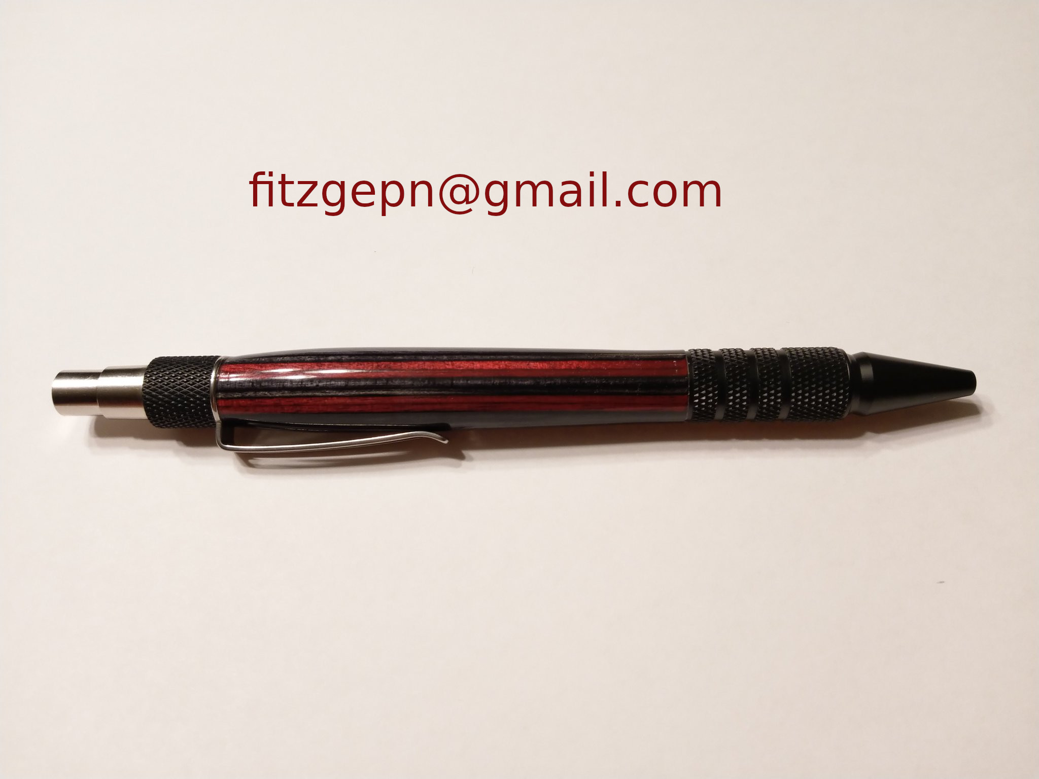 Frogwood Red/Black pen by Patrick Fitzgerald - limited edition color available on request